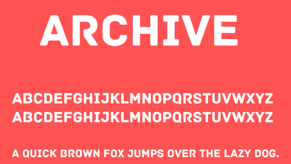 Archive Font Free Download