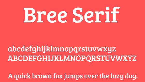 Bree Serif Font Free Download
