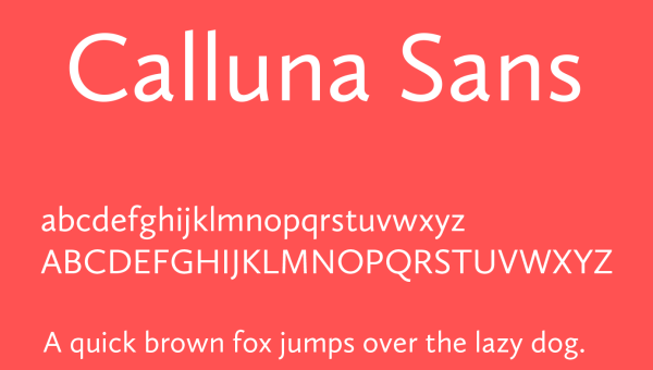 Calluna Sans Font Free Download