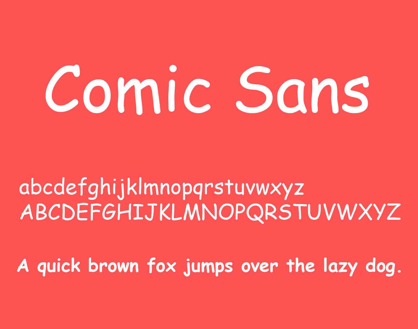 comic sans ms font free download