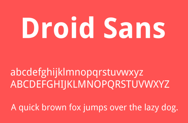 Droid Sans Font Family Free Download