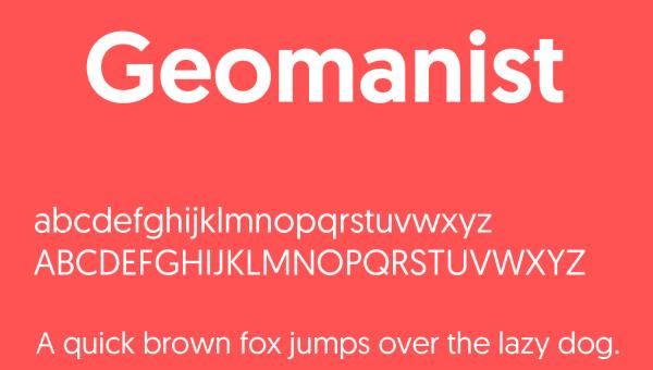 Geomanist Font Free Download