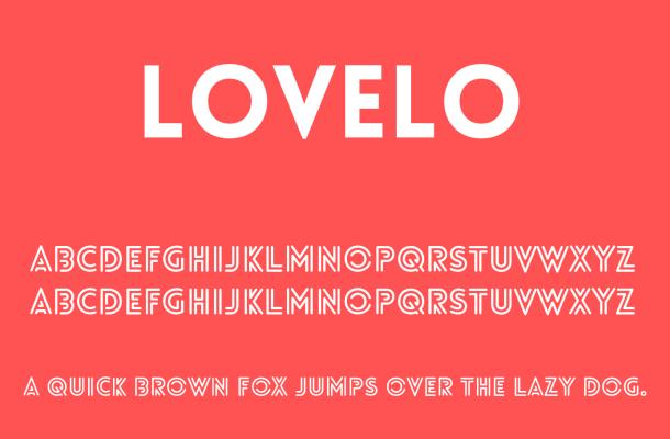 Lovelo Font Free Download