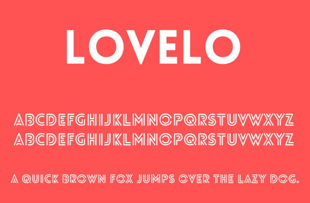 Lovelo Font Free Download