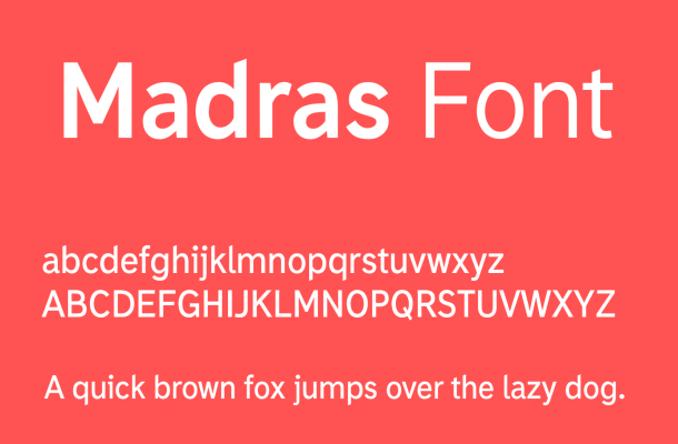Madras Font Free Download