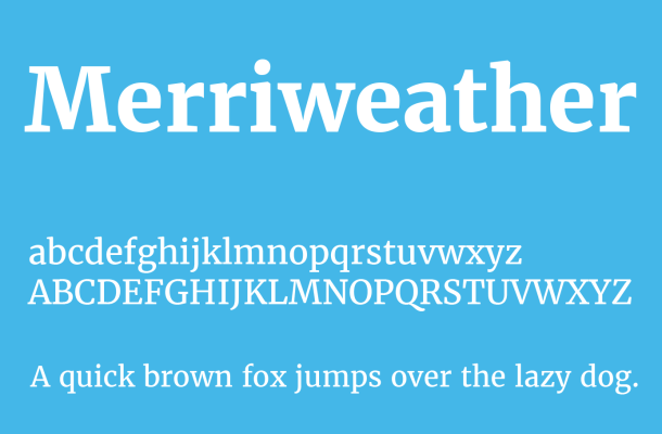 Merriweather Font Family Free Download