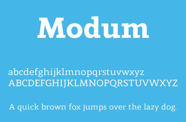Modum Font Free Download