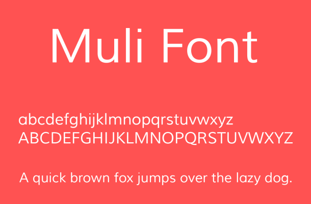 Muli Font Free Download