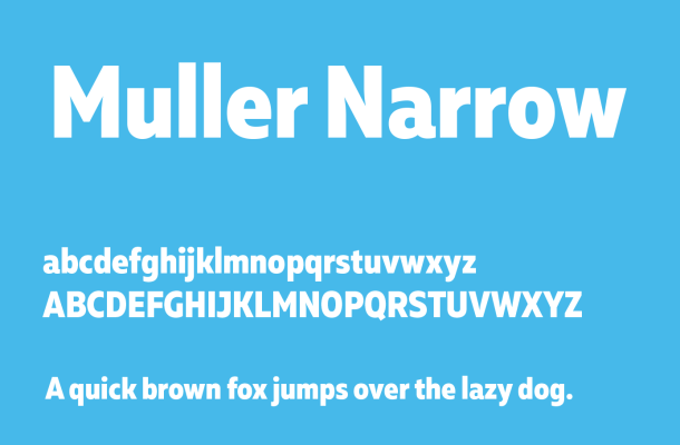 Muller Narrow Font Free Download