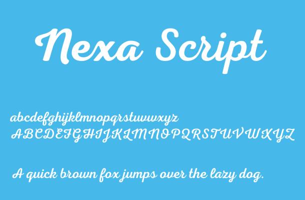 Nexa Script Font Free Download