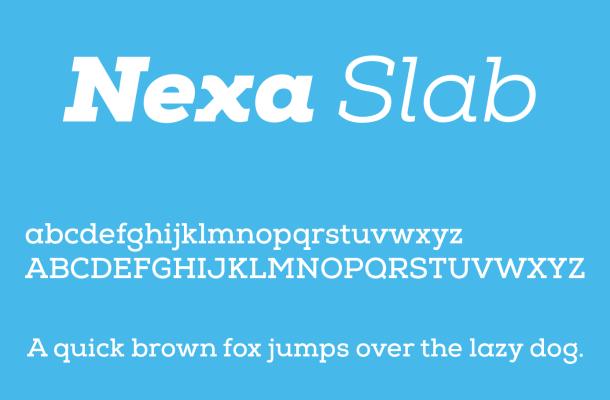 Nexa Slab Font Free Download