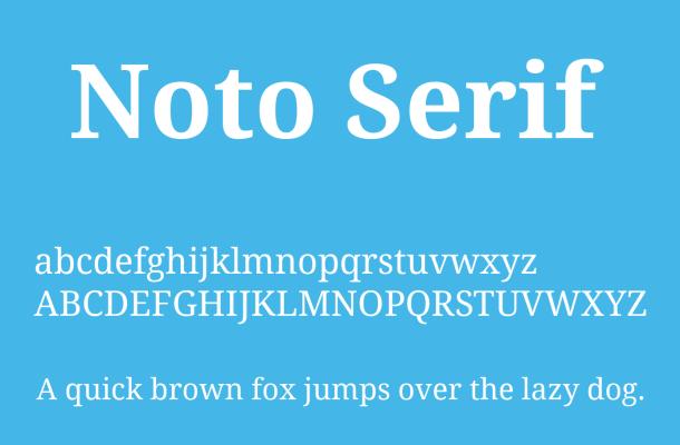 Noto Serif Font Free Download