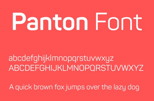 Panton Font Family Free Download