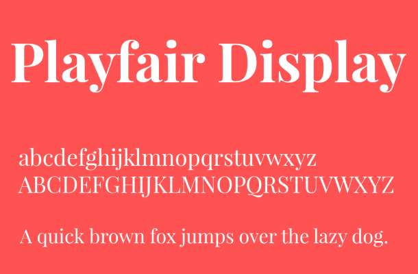 Playfair Display Font Family Free Download