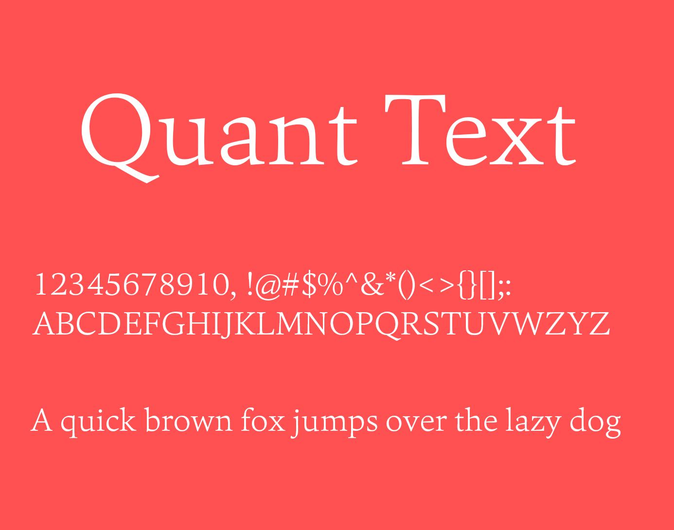 Quant Text