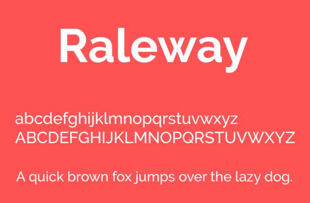 Raleway Font Free Download