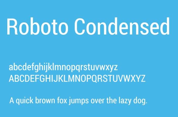Roboto Condensed Font Free Download