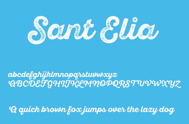 Sant'Elia Script Font Free Download