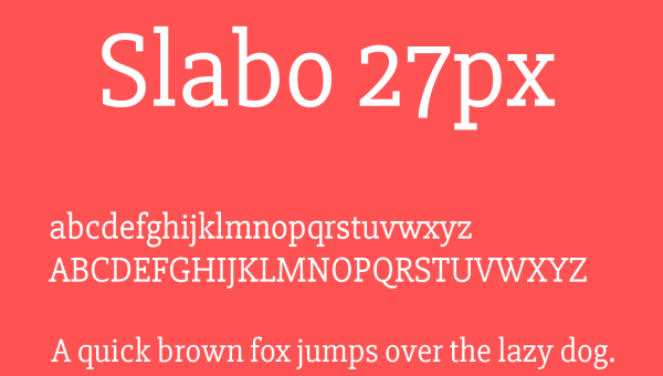 Slabo Font Free Download