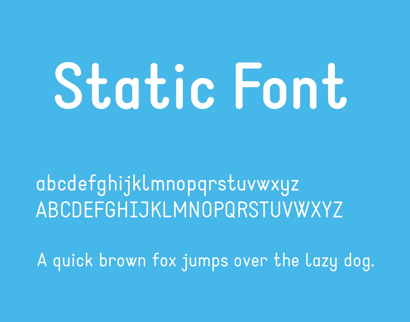 static-font