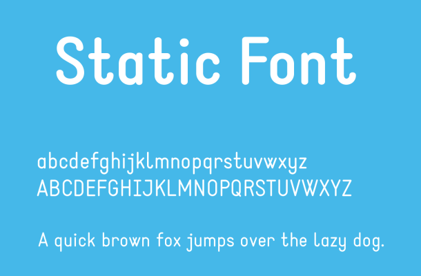 Static Font Free Download