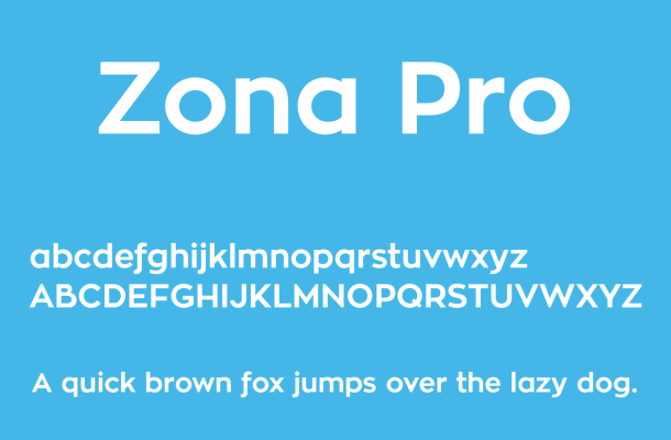Zona Pro Font Free Download