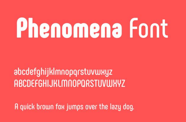 Phenomena Font Family Free Download