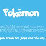 Pokémon Font Free Download