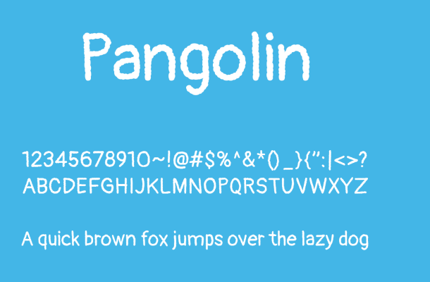 Pangolin Font Free Download