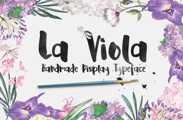 La Viola – Free Script Display Font