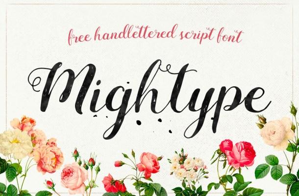 Mightype Free Handlettered Script Font By AF Studio