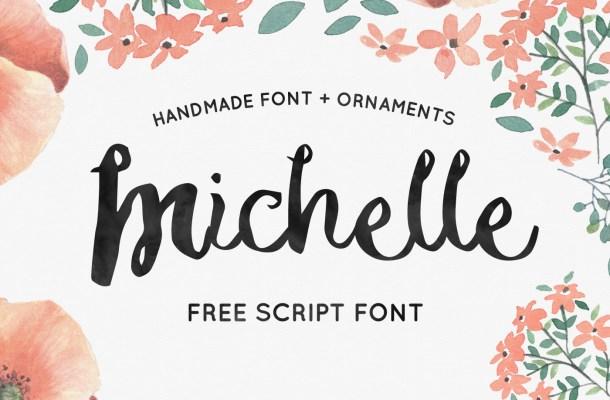 Michelle – Free Handmade Script Font