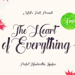 The Heart of Everything – Handwritten Font