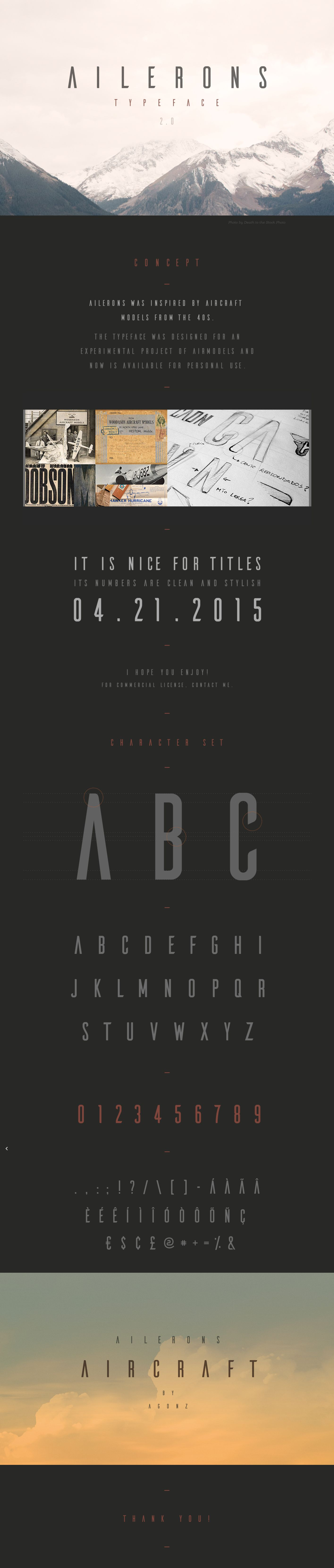 Ailerons Typeface on Behance