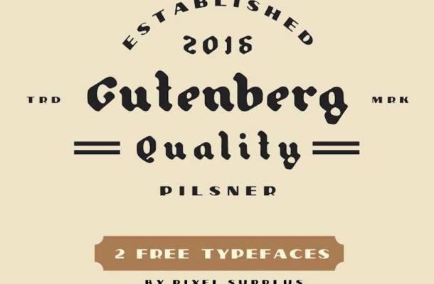 Pilsner & Gutenberg – Free Font Pairing