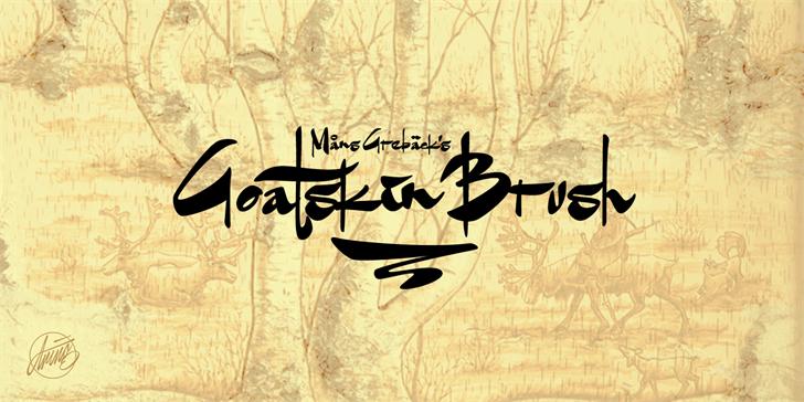 Goatskin Brush Personal Use font