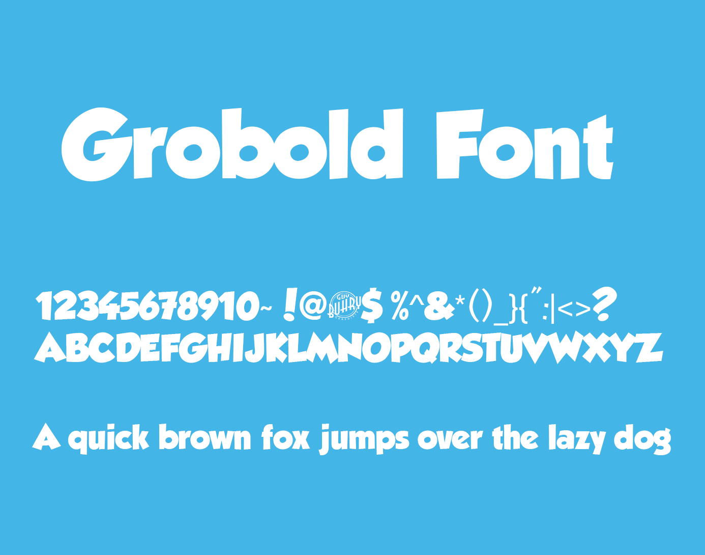 Grobold Font Free Free Fonts