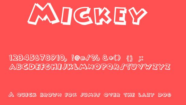 Mickey Font Free