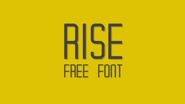 RISE – Free Typeface