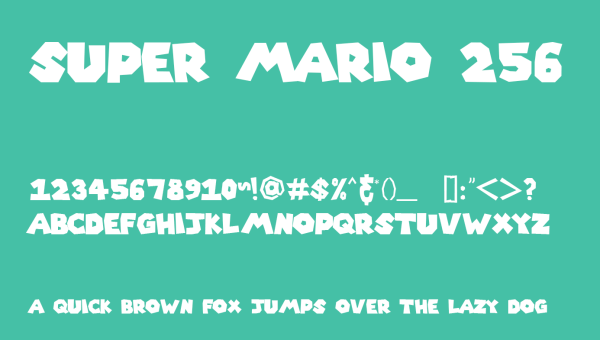 Super Mario 256 Font Free