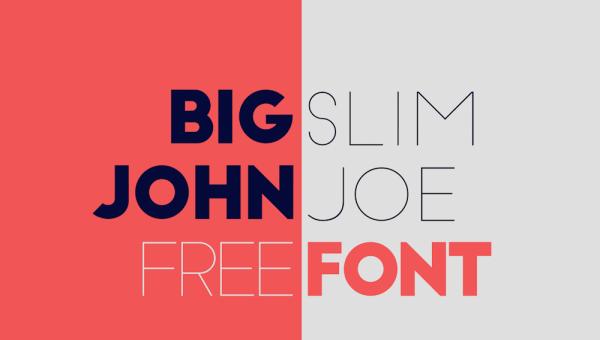 Big John & Slim Joe Free Typeface