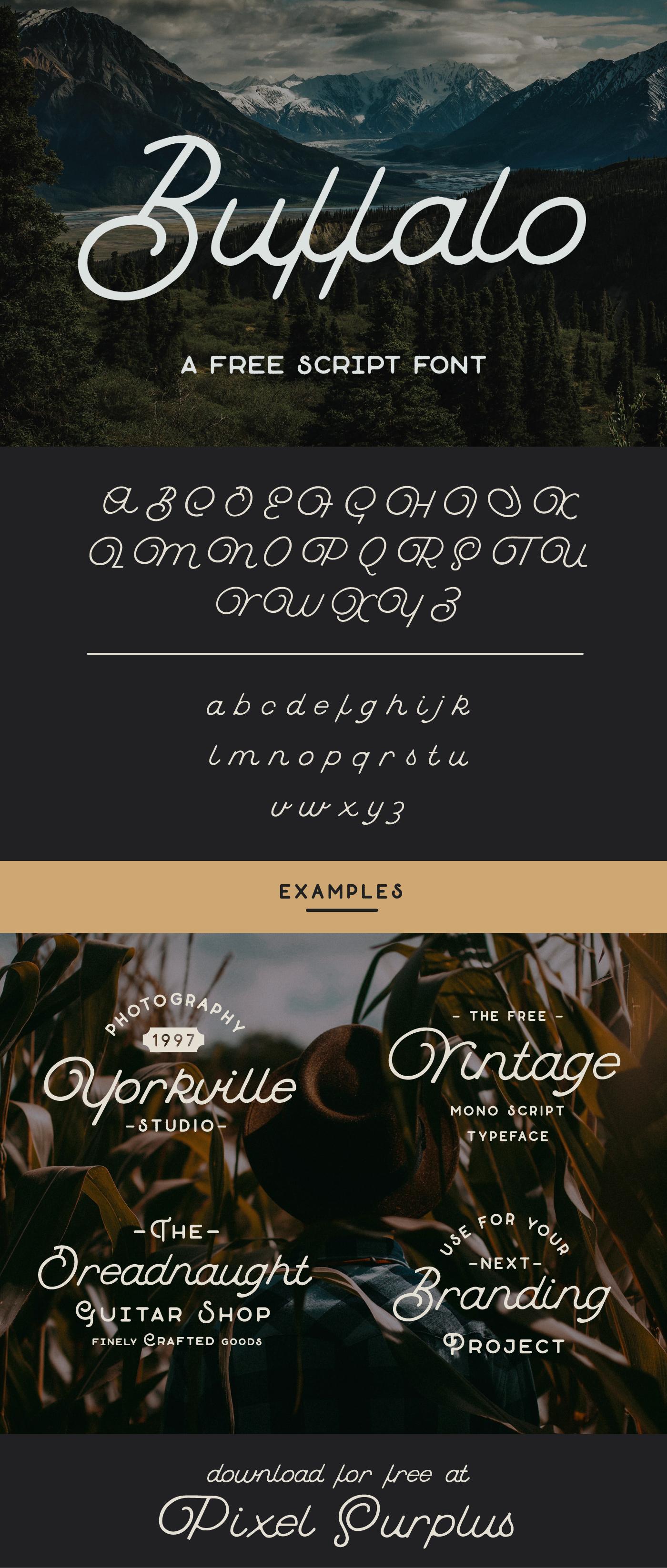 buffalo free script font