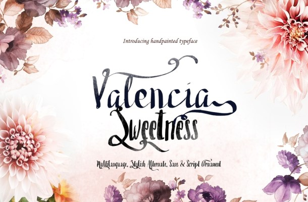 Valencia Sweetness – Brush Typeface