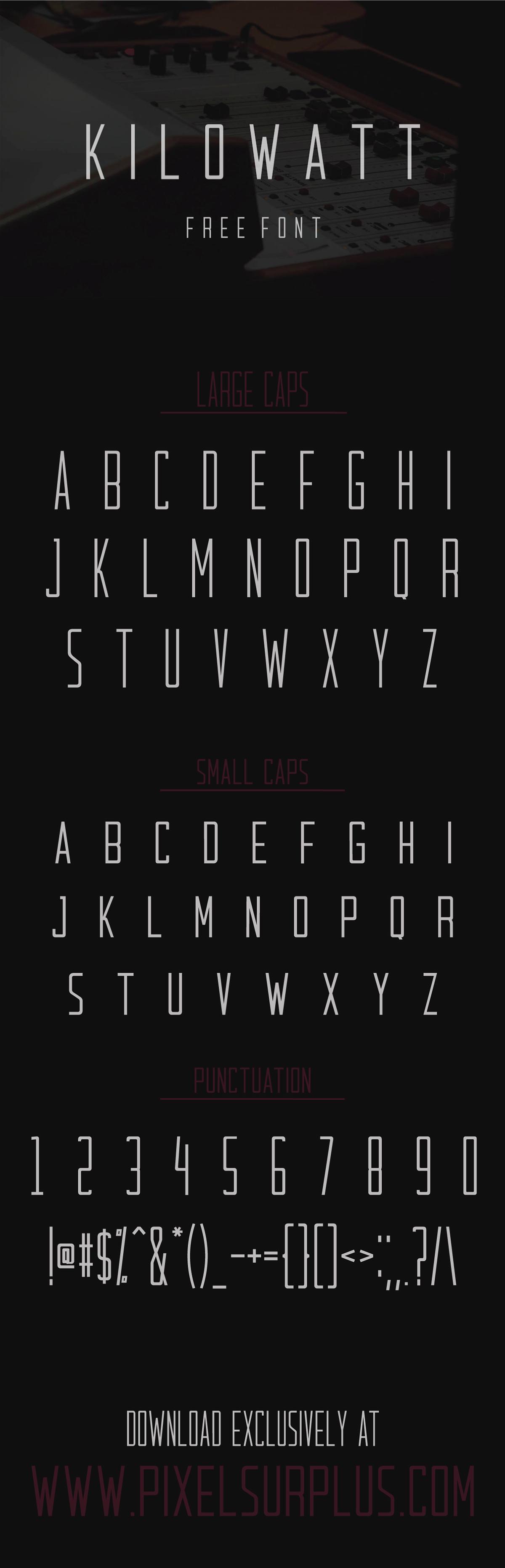 kilowatt free font