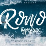 ROWO – Free Handmade Brush Typeface