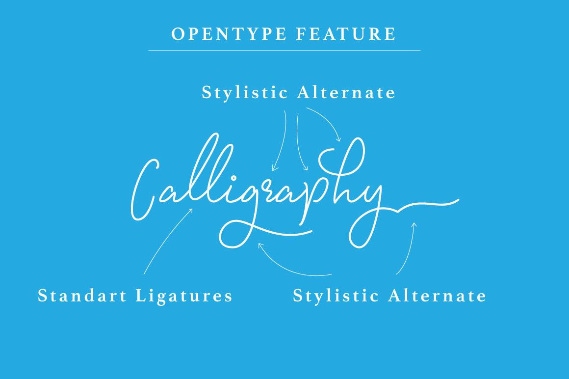 signature font monoline 4