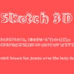 Sketch 3D Font