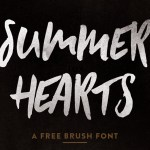 Summer Hearts – Free Brush Font