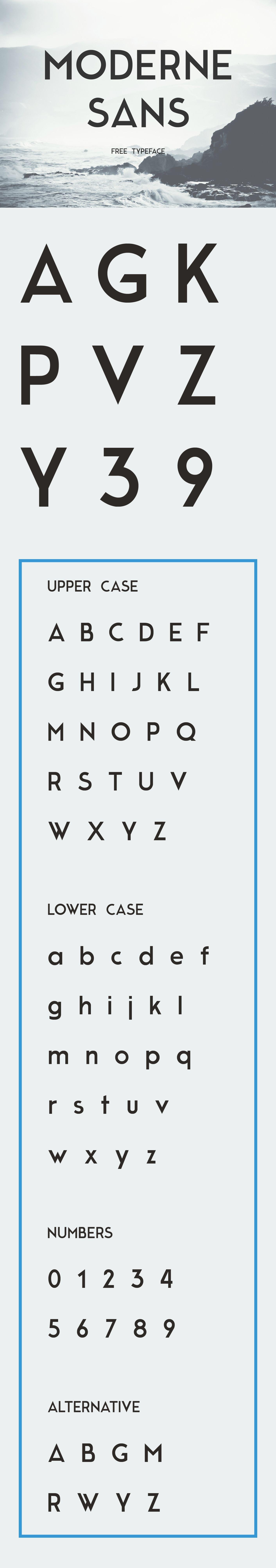 Moderne Sans - Free Typeface on Behance