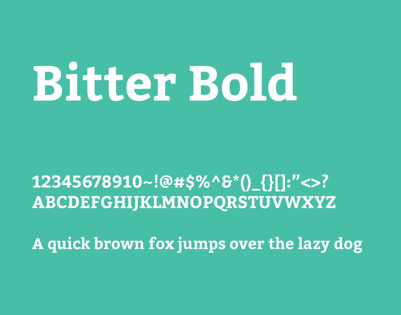 bitter bold